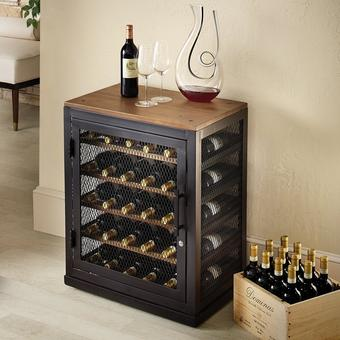 Corsica Individual Modular Wine Locker | 40 Bottle Capacity | Reclaimed Wood With Metal Shelves | Lock & Key System | Stackable Units