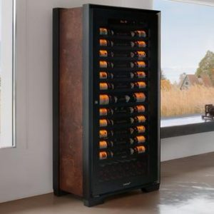 EuroCave Royale Wine Cellar | Mineral Gray | Built-In Lock | Control Panel | Controlled Air Quality