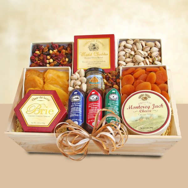 Glorious Meat and Cheese Crate Gift Basket