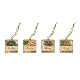 Personalized Marble Grape Design Ornaments (Set of 4)