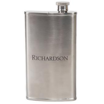 Personalized Stainless Steel Flask with Cigar Holder