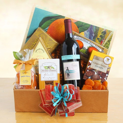 Relaxing Wine and Gourmet Snacks Package - Gift Baskets by Gift