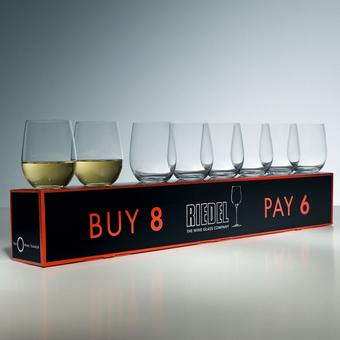 Riedel 'O' Buy 8 Pay 6 Chardonnay Stemless Wine Glasses (Set of 8)