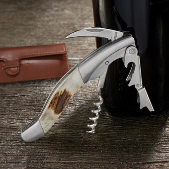 Wine Enthusiast Stag Horn Executive Corkscrew