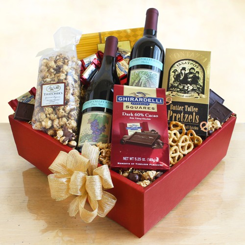 Wine Relaxation Gift Set - Wine Gift Baskets by Gift Baskets Plus