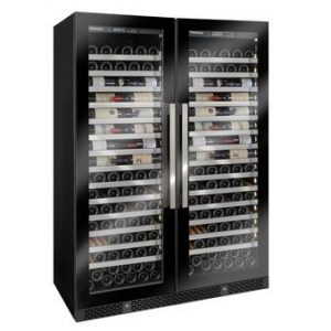 Vinothque Double Caf Single Zone Wine Cellar with Steady Temp Cooling (Edge-To-Edge Glass Door)