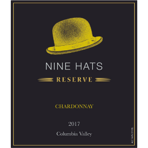Nine Hats 2017 Columbia Valley Washington Reserve Chardonnay