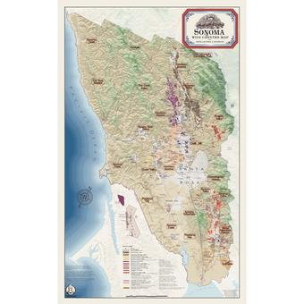 Sonoma Wine Country Map Gicle