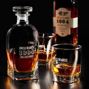 Uncle Nearest 1884 Small Batch Whiskey Decanter and Glasses Set