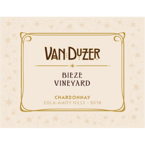 Van Duzer Vineyards 2018 Bieze Vineyard Eola-Amity Hills Oregon Chardonnay