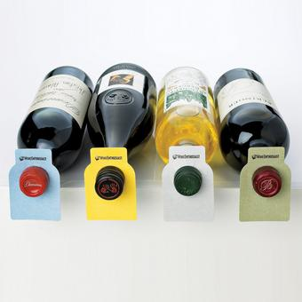 Wine Enthusiast Color Coded Wine Bottle Hang Tags - 100/Set