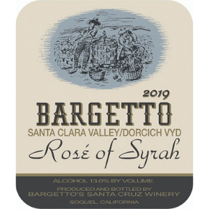 Bargetto Winery 2019 Dorcich Family Vineyards Santa Clara Valley Rosé of Syrah