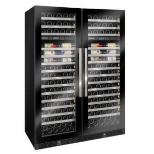 Vinothque Double Caf Dual Zone MAX Wine Cellar with Steady Temp Cooling (Edge-To-Edge Glass Door)